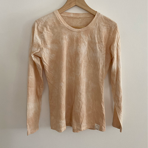 Organic Cotton Long Sleeve Shirt Plant Dyed Hand Dyed Small Batch Sustainable Ethically Made in USA Soft T Shirt Tee Shirt