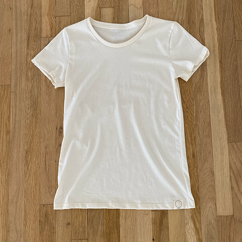 Organic Cotton T Shirt Tee Shirt Natural White Undyed Made in USA Sustainable Ethically Made Soft Cotton Shirt