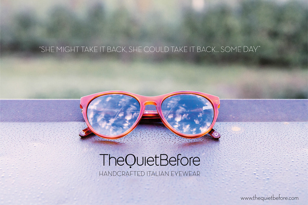 Sunglass The Quiet Before Take It Back Shiny Amber Tortoise with Blue Smoke Lenses