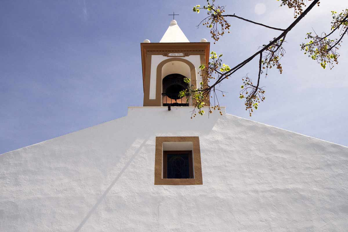 the quiet before the travel ibiza church white