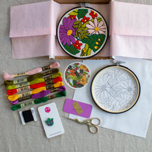 Load image into Gallery viewer, Garden Party Embroidery Kit