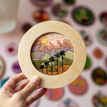 Load image into Gallery viewer, Palm Row Embroidery Pattern