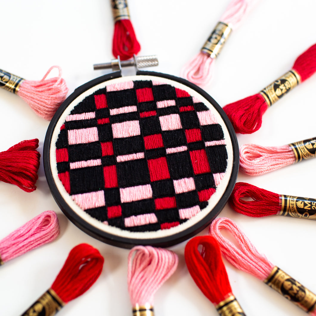 Pink and Red Quilt Hoop
