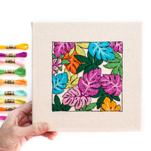 Load image into Gallery viewer, Monstera Rainbow Jungle Embroidery Frame