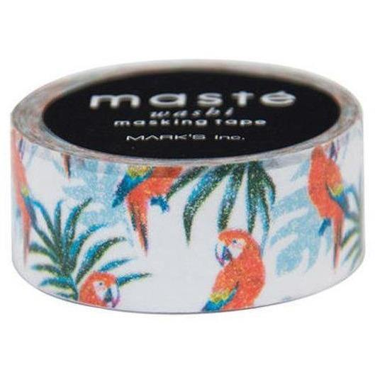 MASTÉ Washi-Tape Animal Parrot Black Masté