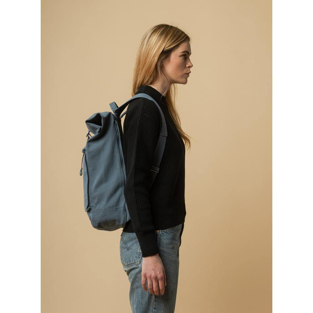 Rucksack AMAR - dusty blue Tan mela