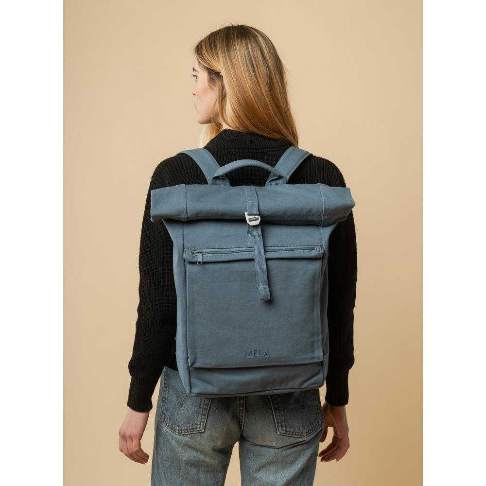 Rucksack AMAR - dusty blue Dim Gray mela