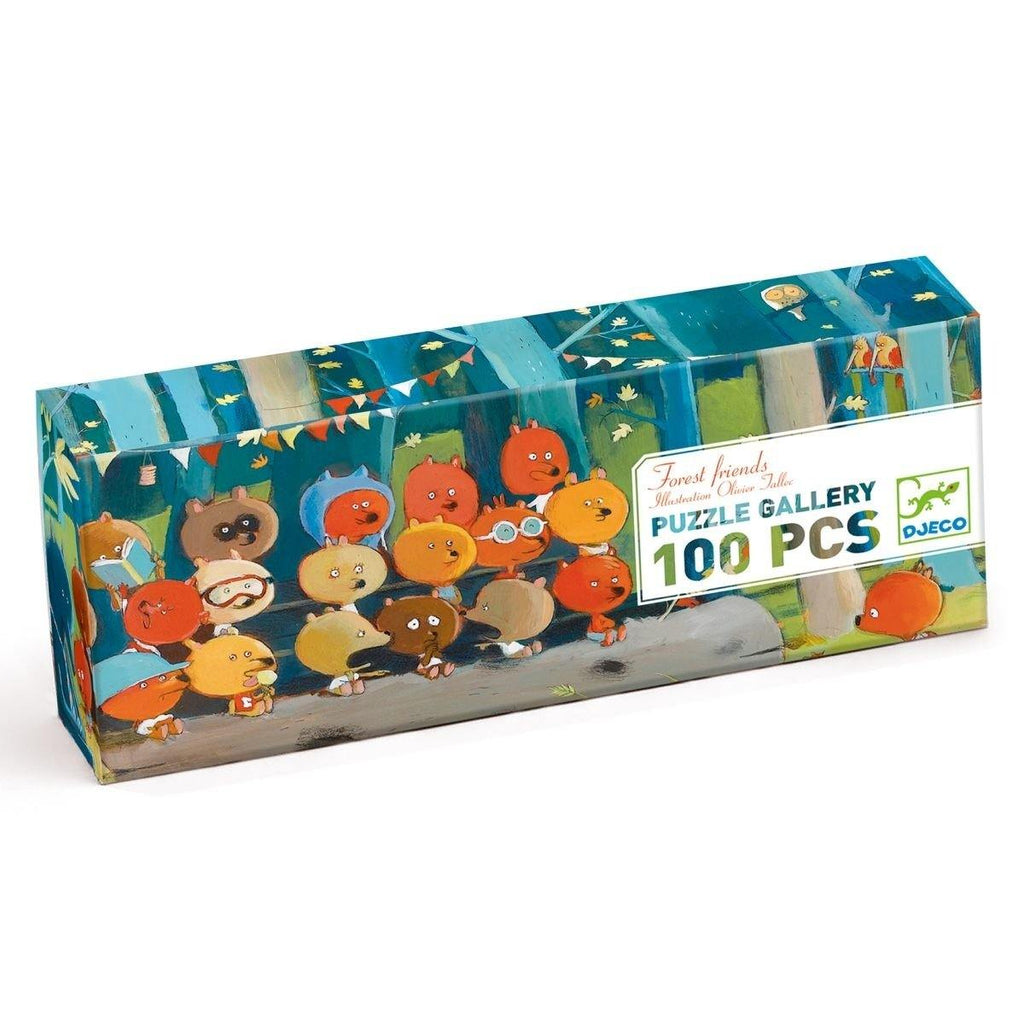 Puzzle Gallerie: Forest Friends - 100 Stk. von DJECO Chocolate Djeco