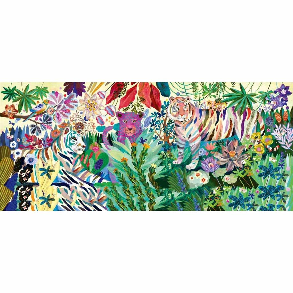 Puzzle Gallerie: Rainbow Tigers - 1000 Stk. von DJECO Sea Green Djeco