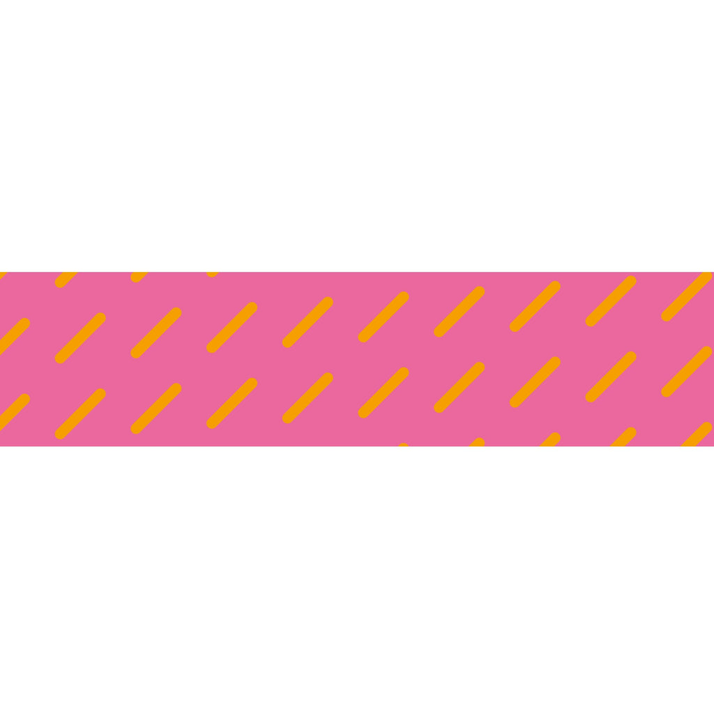 MASTÉ Washi-Tape Neon Pink Basic Lines Pale Violet Red Masté