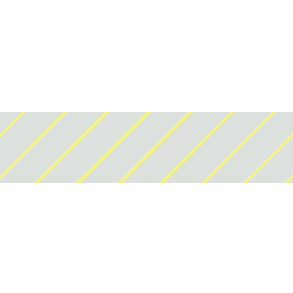 MASTÉ Washi-Tape Neon Yellow Stripes Light Gray Masté