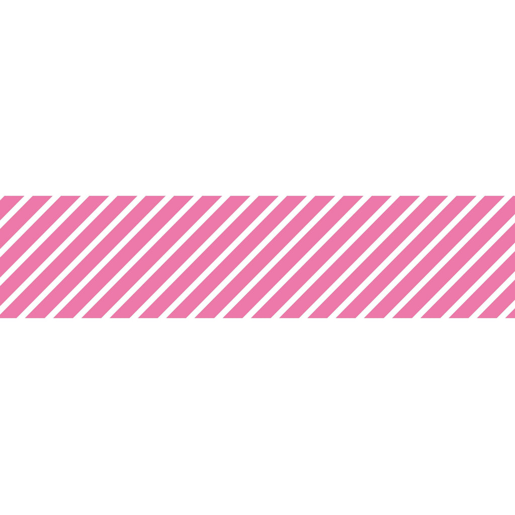 MASTÉ Washi-Tape Neon Pink Stripe Basic Hot Pink Masté