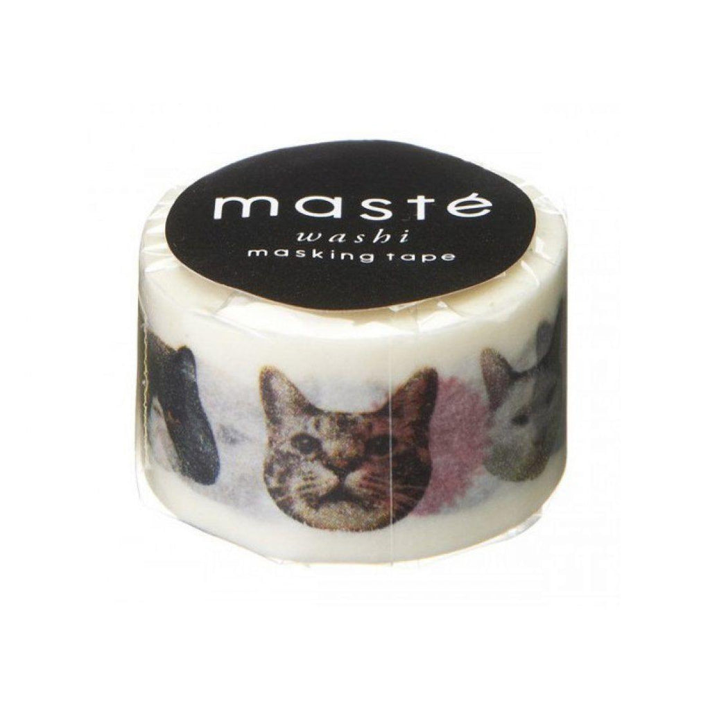 MASTÉ Washi-Tape Multi Cat Dark Slate Gray Masté