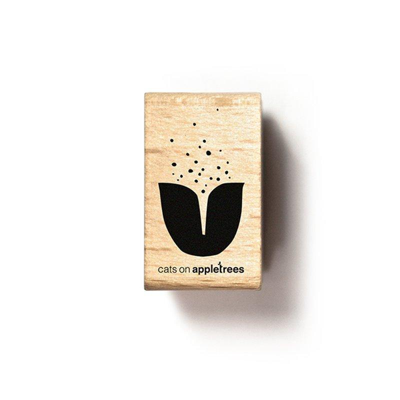 Stempel Tulpe 4 Bisque catsonappletrees