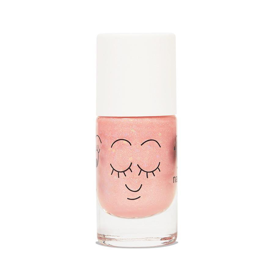 Nailmatic Kids, Nagellack wasserbasiert, peach glitter Light Pink nailmatic