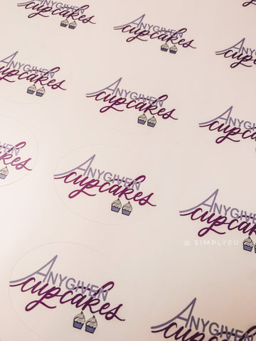 Custom Logo Stickers for Any Given Cupcakes