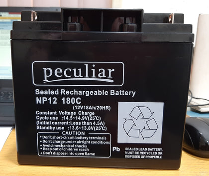 Peculiar 12V 18Ah/20HR Sealed Rechargeable Battery | NP12 180C