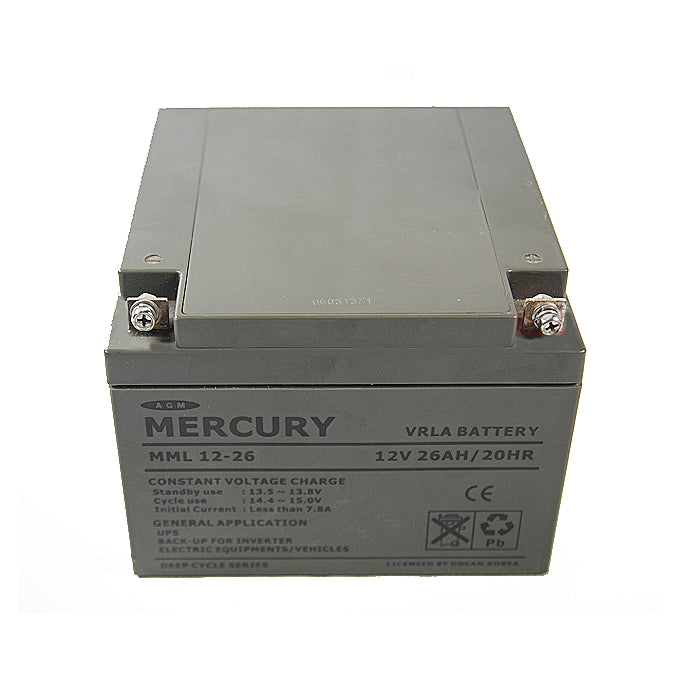 Mecury  Inverter Battery 26Mah/12V