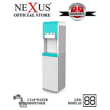 Nexus  3 Tap Water Dispenser With Led Indicator Blue