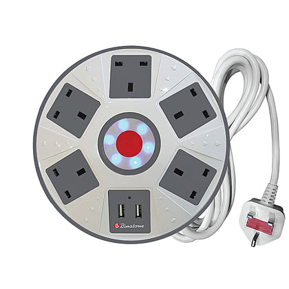 Binatone  Extension Power Cord With USB Sockets | PEC-501D