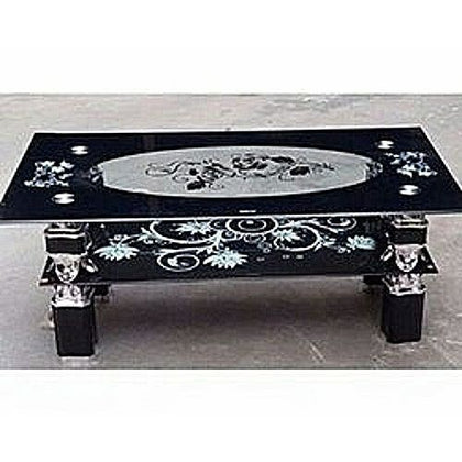 Center Table Tempered Glass Standard - Black