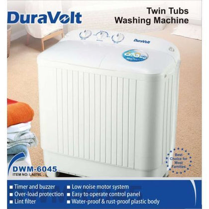 Duravolt Double Tub 6kg Washing Machine
