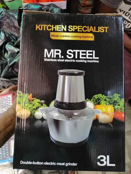 Mr Steel 3L Food Processor & Yam Pounder
