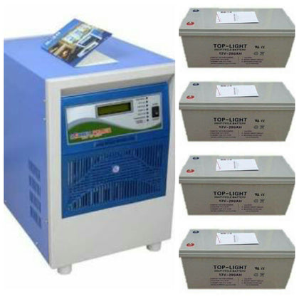 Soccer Power  Soccerpower 3.5Kva/48V Pure Sine Wave Inverter + 4 inverter battries