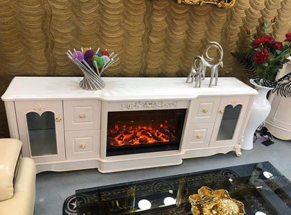 Royal Fireworks TV Stand With Drawers