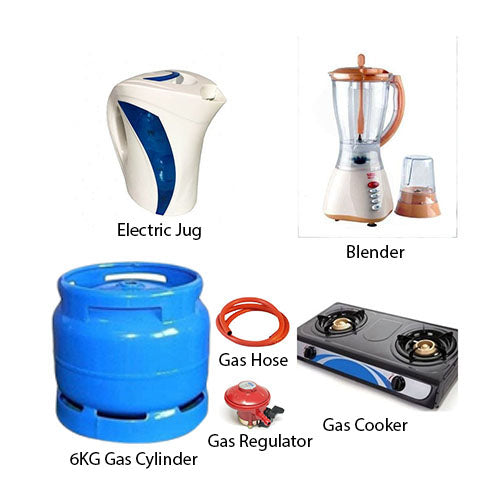 Blender, Jug, 6Kg Cylinder, Gas Stove Special Kitchen Bundle