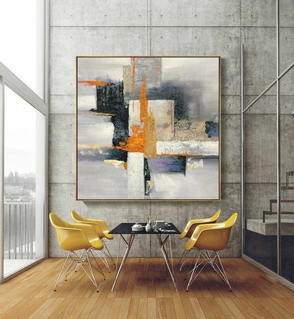Cubism in abstract composition Framed Wall Art
