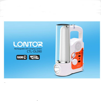 Lontor Rechargeable Lantern With FM Radio | CTL-OL090