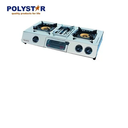 Polystar 2 Burner Table Top Gas Cooker With Grill Function | PV-GRS87BX