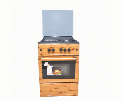 MAXI 3+1 Gas Cooker 60*60 Wood Finish | MAXI 6060(3+1) WOOD