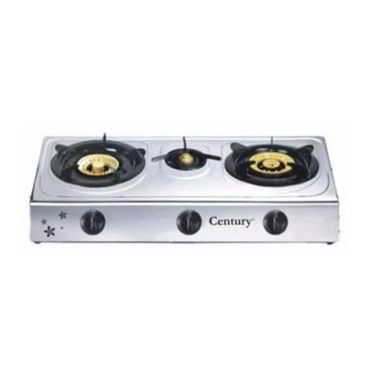 Century 3 Burner Stainless Table Top Gas Cooker