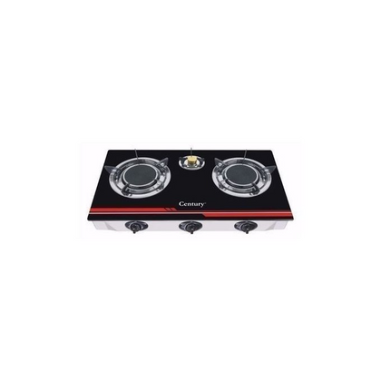 Century 3 Burner Table Top Glass Gas Stove