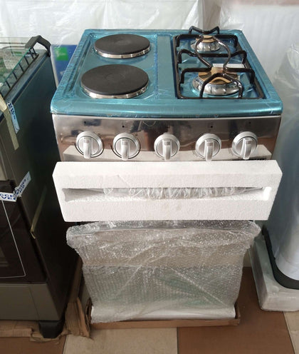 Skyrun 2 Gas Burner and 2 Electric Gas cooker | 2+2