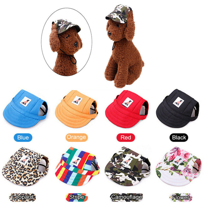 Summer Hats with Ear Holes for Pet Dogs & Cats