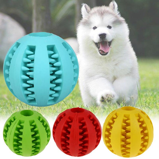 Interactive Bite-Resistant Rubber Chew Ball For Pet Dogs & Cats