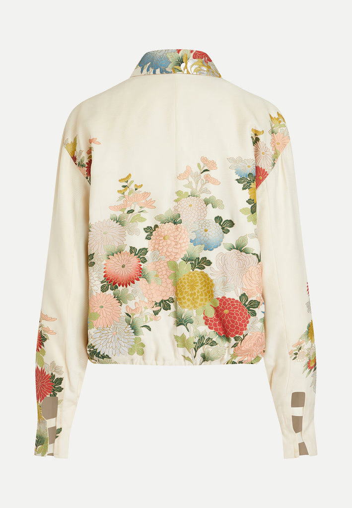 womenswear multi-coloured floral kimono jacket back