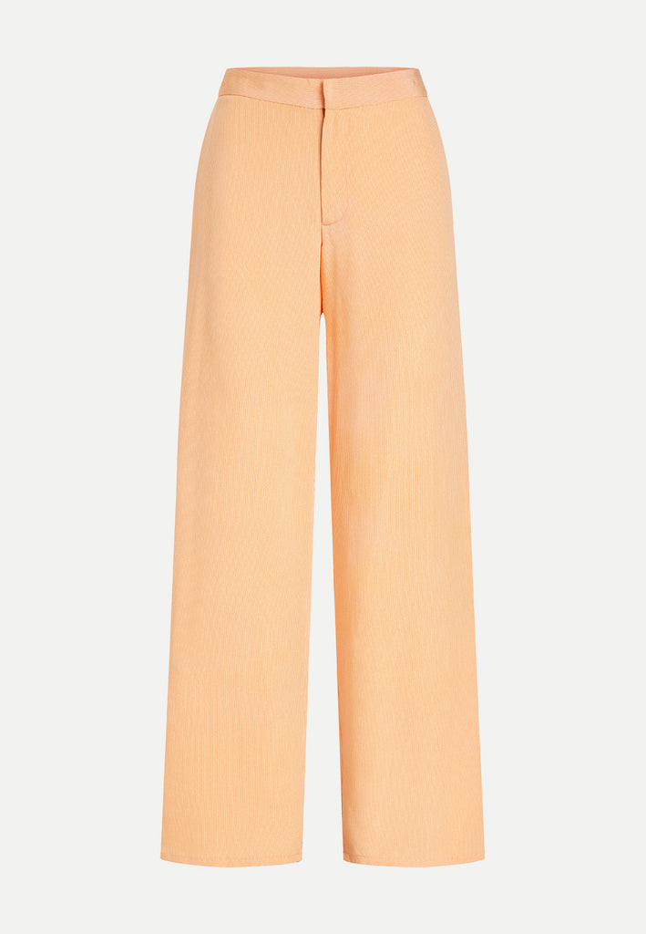 womenswear light orange straight cut kimono trousers front