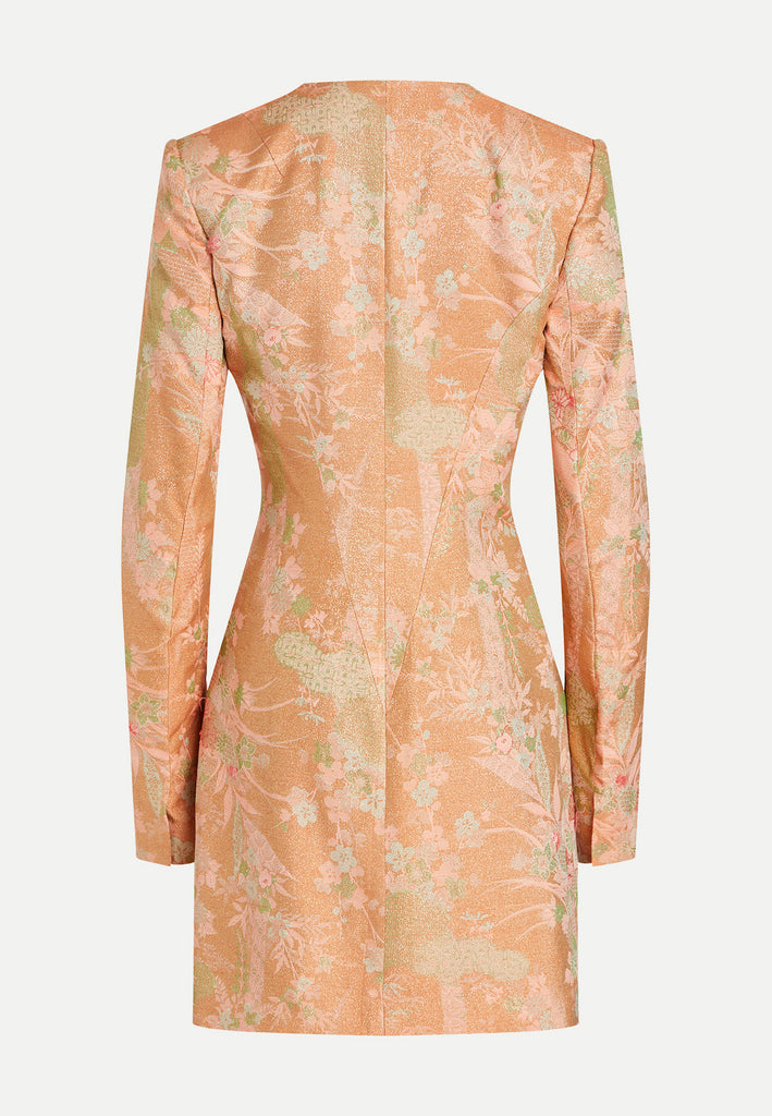 womenswear rose gold tailored blazer jacket back