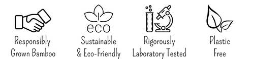 Four symbols about sustainable and eco-friendly products