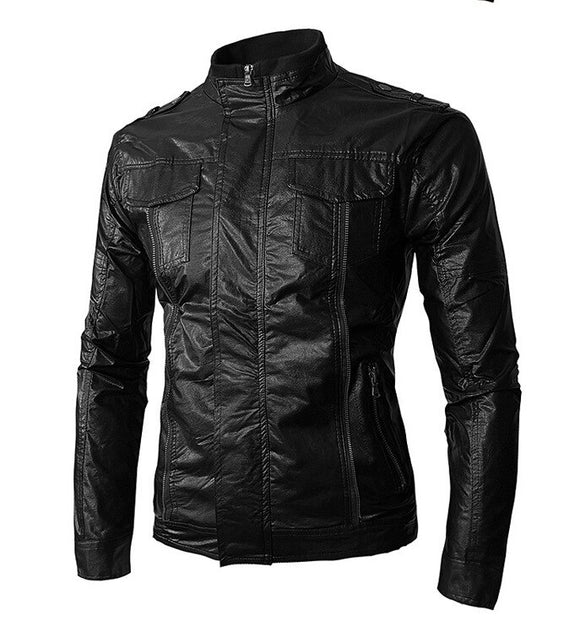 MRMT 2021 Brand New Men's Jackets Collar Leather Overcoat for Male Leather Jacket Outer Wear Clothing Garment
