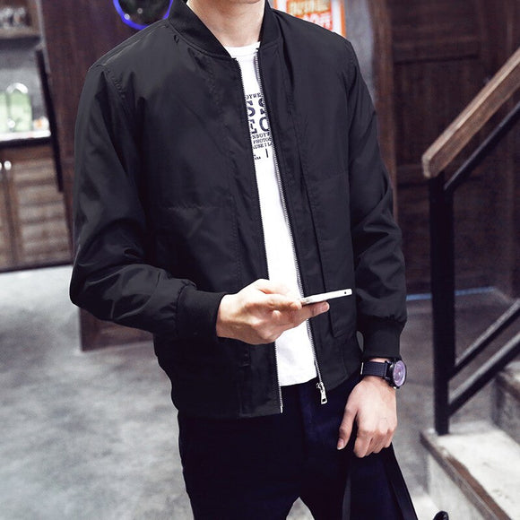 MRMT 2021 Brand Men'S Jacket Spring And Autumn Thin Men'S Baseball Collar Solid Color Casual Jacket