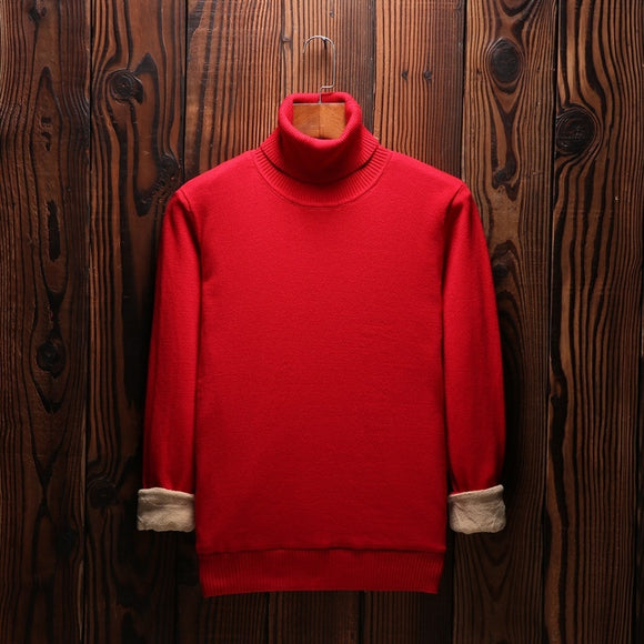 MRMT 2020 Brand New Men's Sweater  Turtleneck Leisure  Young for Male Knit Thick Solid Color Sweater Clothing Garment