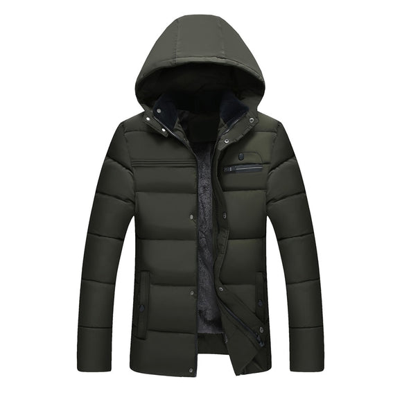 MRMT 2021 Brand New Middle-aged Men's Jackets Cotton Thickened Overcoat for Male Plush Cotton Jacket Middle-aged Outer Clothing