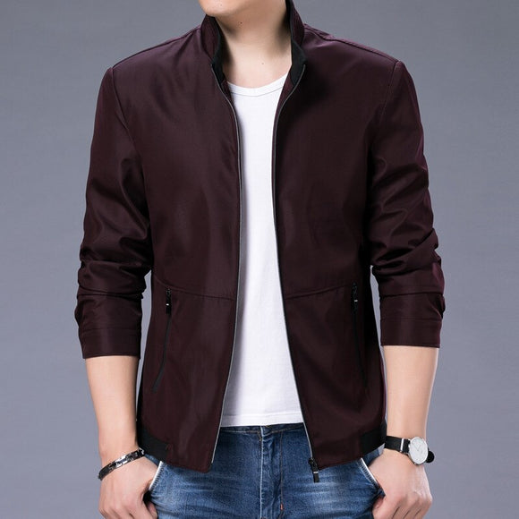 MRMT 2021 Brand New Youth Men's Jackets Coat Overcoat For Male Business Solid Long Sleeve Collar Jacket Outer  Wear Clothing
