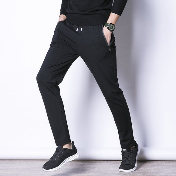 MRMT 2020 Brand New Spring and Autumn Men's Trousers Leisure Cotton Pure Color Pants for Male Pocket Zipper Stretch Trouser