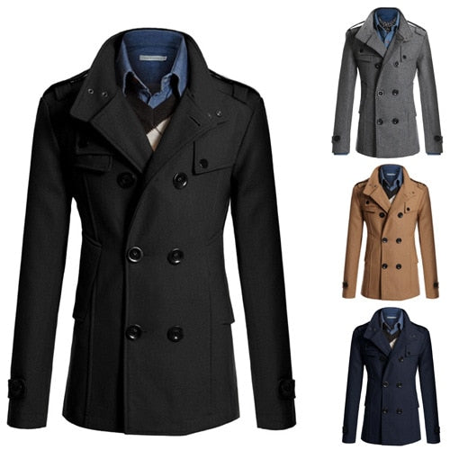 MRMT 2021 Brand Autumn Winter New Men's Jackets Body Repair Woolen Overcoat for Male Double Breasted Thickened Jacket